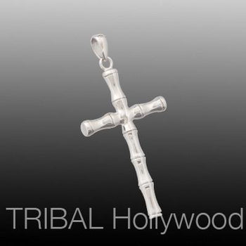 BAMBOO CROSS Stainless Steel Pendant