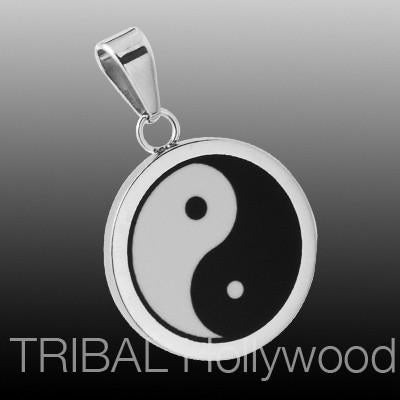 YIN YANG Stainless Steel Chinese Symbol Men's Necklace Pendant