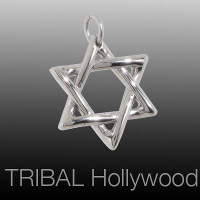 THE STAR OF DAVID Medium Stainless Steel Necklace Pendant