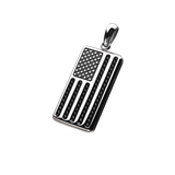 THE AMERICAN Stainless Steel American Flag Chain Pendant for Men