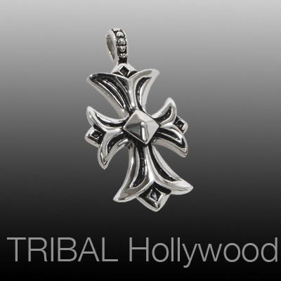 MILITIA CROSS Stainless Steel Men's Necklace Pendant