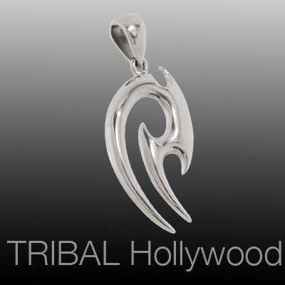 BLADESPIKE Tribal Tattoo Mens Necklace Pendant in Stainless Steel