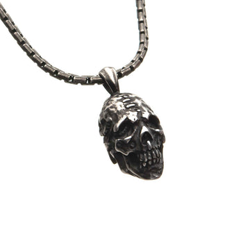 ZOMBIE SKULL Stainless Steel Pendant Chain Necklace for Men