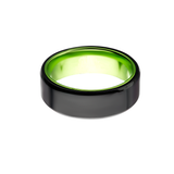 AGENT GREEN Mens Ring in Steel and Aluminum with Secret Green Interior
