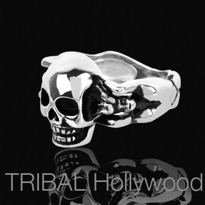 LADY-KILLER Skull Ring For Men In Stainless Steel