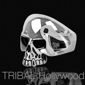 SHINING SKULL Ring High Polish Stainless Steel Mens Ring
