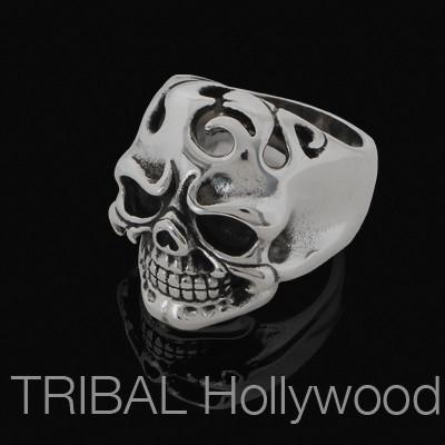 INFERNO SKULL Flaming Skull Ring For Men