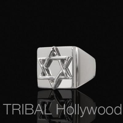 STAR OF DAVID Ring For Men in Stainless Steel