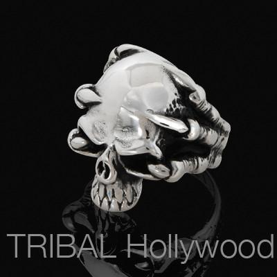 DEMON CLAWS SKULL Ring in Steel