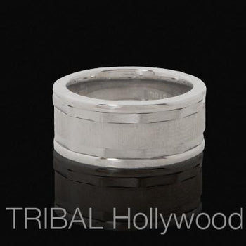 RATCHET Stainless Steel Industrial Mens Ring