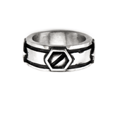 SCREWBOLT RING Modern Industrial Style Steel Mens Ring