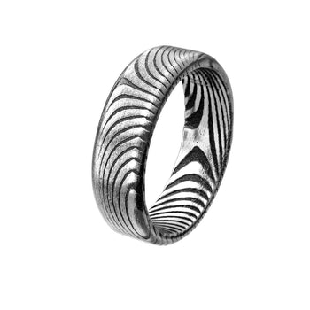 CUTLASS Damascus Steel Contemporary Band Ring for Men