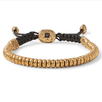 John Varvatos BRASS SIMIT BEAD Adjustable Bracelet for Men