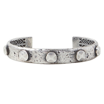 John Varvatos SILVER RIVET CUFF Bracelet for Men