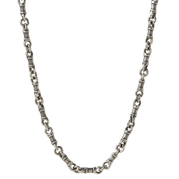 John Varvatos SILVER LINK Hammered Mens Necklace Chain