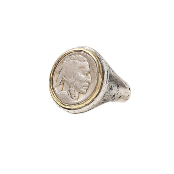 John Varvatos BUFFALO NICKEL RING for Men in Silver and Brass