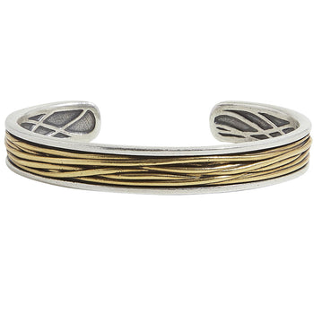 John Varvatos BRASS WIRE CUFF Mens Bracelet in Sterling Silver