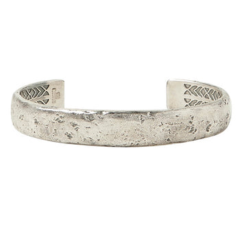 John Varvatos SILVER HAMMERED CUFF Bracelet for Men Thick Width