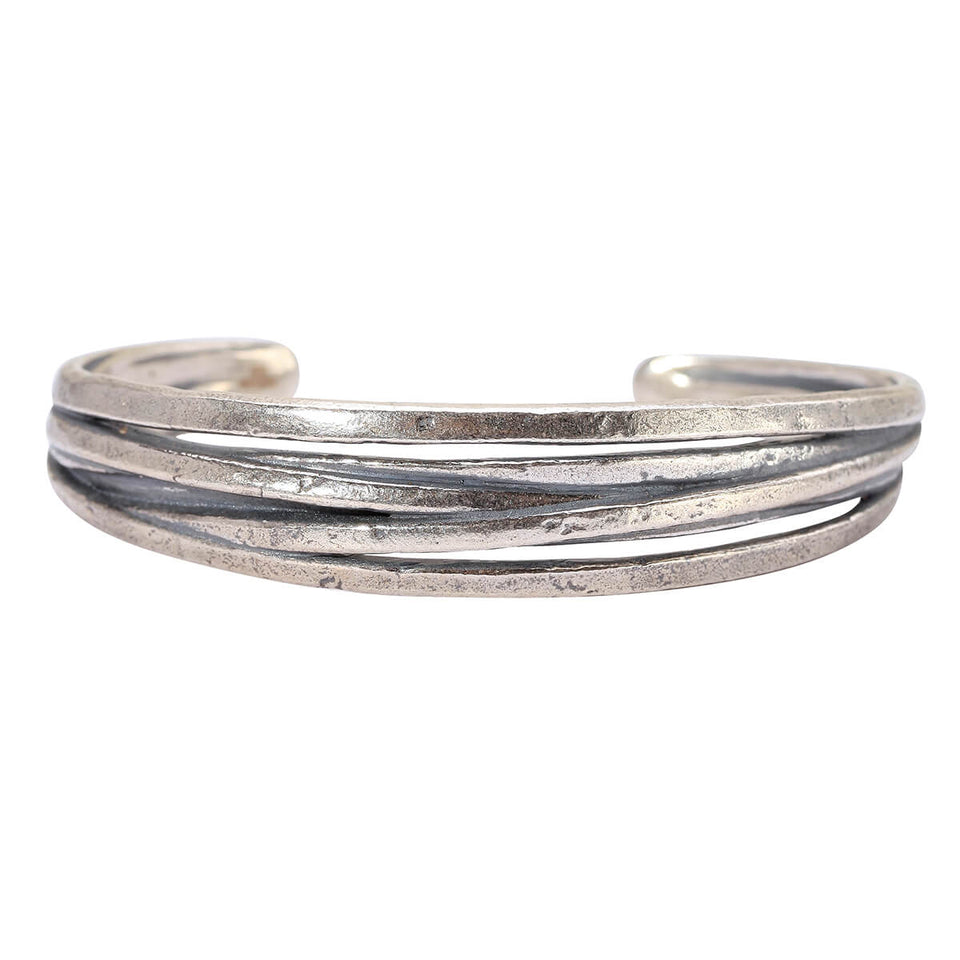 John Varvatos FUSION CUFF Bracelet for Men with Overlapping Bands