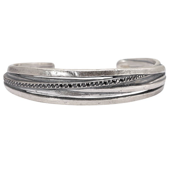 John Varvatos BLACK DIAMOND FUSION CUFF Bracelet for Men with Overlapping Bands