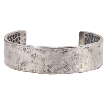 John Varvatos HAMMERED CUFF Bracelet for Men in Sterling Silver