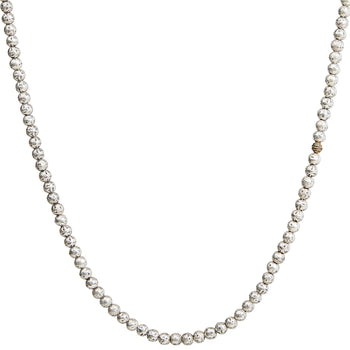 John Varvatos RUGGED STERLING SILVER BEAD CHAIN Mens Necklace with Wire Bead
