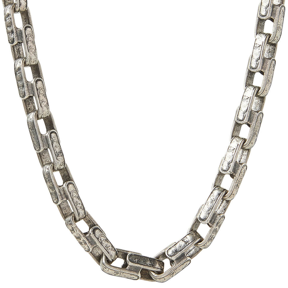 John Varvatos LARGE CLASSIC CHAIN Distressed Silver Necklace for Men