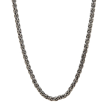 John Varvatos MODERN LINK CHAIN Sterling Silver Mens Necklace