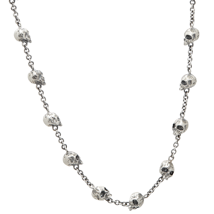 John Varvatos SKULL CHAIN Sterling Silver Link Necklace for Men