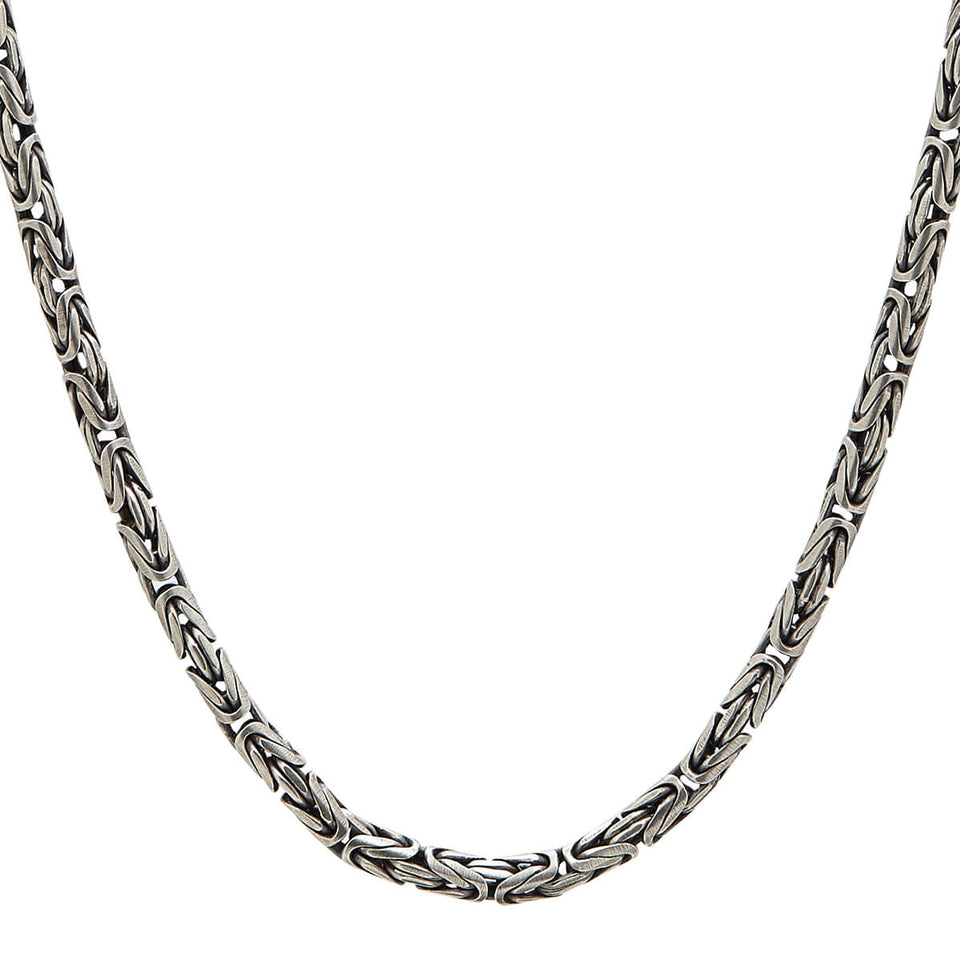 John Varvatos BYZANTINE CHAIN Necklace for Men in Sterling Silver