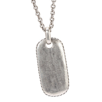 John Varvatos OVAL DOG TAG Chain Necklace for Men in Sterling Silver