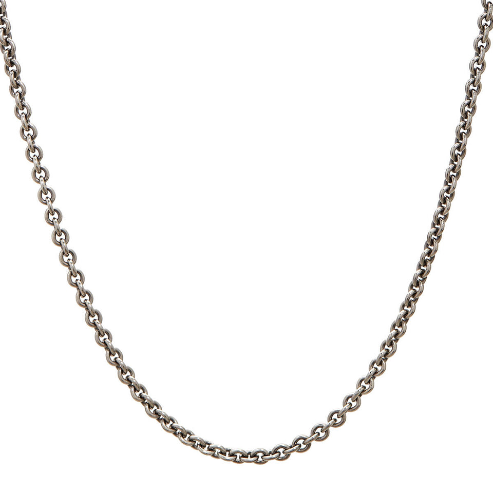John Varvatos OVAL LINK CHAIN for Men in Sterling Silver