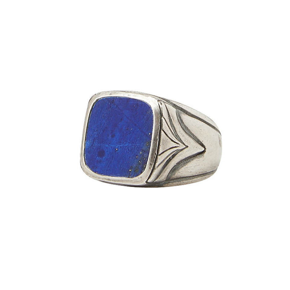 John Varvatos BLUE LAPIS RING Sterling Silver Classic Mens Ring