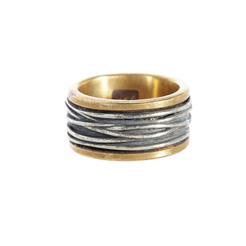 John Varvatos BRASS AND SILVER WIRE Ring for Men