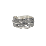 John Varvatos FEATHER BAND Ring for Men in Sterling Silver