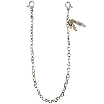 John Varvatos ANCHOR LINK Wallet Chain for Men with Three Feathers