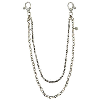 John Varvatos ANCHOR AND MODERN LINK Silver Wallet Chain for Men