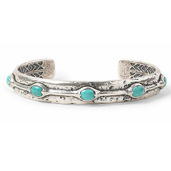 John Varvatos TURQUOISE CUFF Sterling Silver Bracelet for Men
