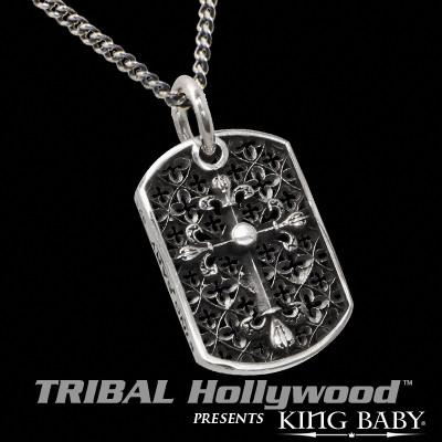 CROSS RELIC King Baby Large Cluster Dog Tag Men's Chain Necklace