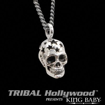 ALL STAR SKULL King Baby Sterling Silver Pendant Necklace