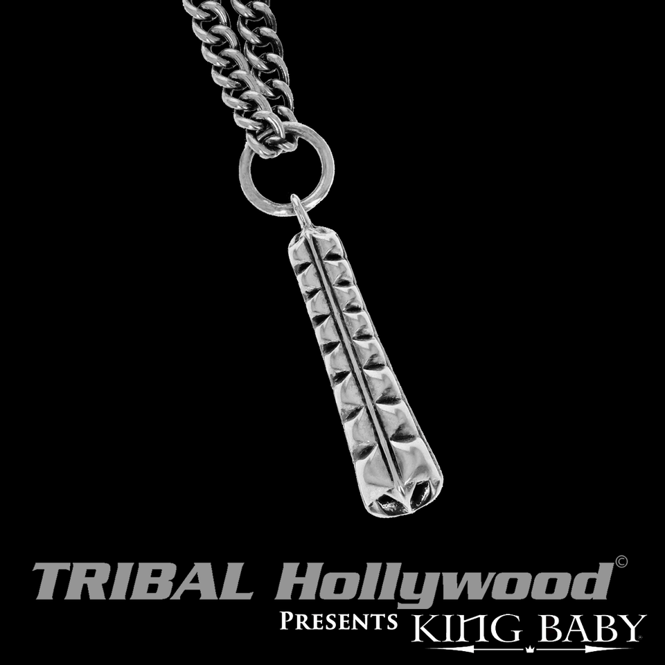 THE CITADEL Sterling Silver Fortress Pendant Chain by King Baby