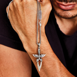 TALON DAGGER Silver Blade Pendant Chain Necklace by King Baby Studio