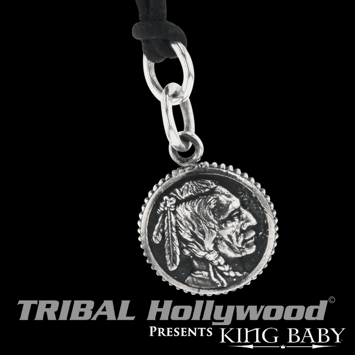 King baby necklaces for men tribal hollywood the chief coin king baby sterling silver chain pendant for men aloadofball Choice Image