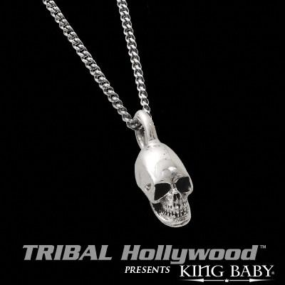 KING BABY SILVER SKULL Pendant Necklace