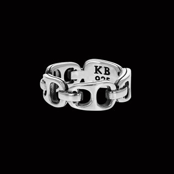King Baby POP TOP INFINITY BAND Sterling Silver Beer Tab Ring for Men