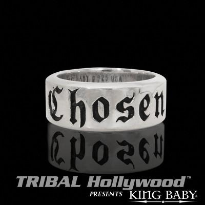 CHOSEN Sterling Silver King Baby Mens Ring
