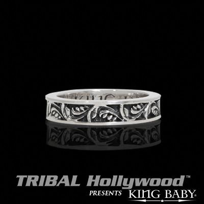 THE GARDEN Stackable Sterling Silver Ring by King Baby