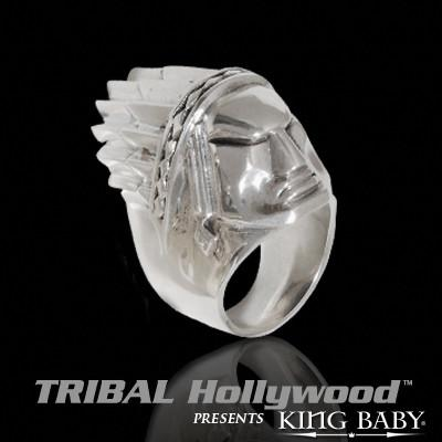 PONTIAC CHIEF Large Sterling Silver Mens Ring by King Baby