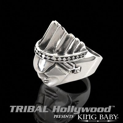 PONTIAC CHIEF Sterling Silver Mens Ring by King Baby