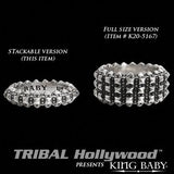 PYRAMID STUDDED Stackable Sterling Silver Mens Ring by King Baby